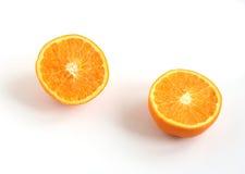 πορτοκάλι δύο αποκοπών στοκ εικόνες
