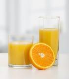 πορτοκάλι δύο χυμού γυα&lamb Στοκ Εικόνες