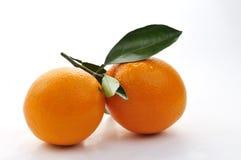 πορτοκάλι δύο Στοκ εικόνες με δικαίωμα ελεύθερης χρήσης