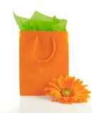 πορτοκάλι δώρων κιβωτίων Στοκ εικόνα με δικαίωμα ελεύθερης χρήσης