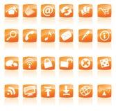 πορτοκάλι εικονιδίων διανυσματική απεικόνιση