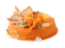 πορτοκάλι κέικ στοκ εικόνες