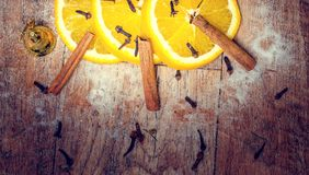 πορτοκάλι κανέλας Στοκ Εικόνα