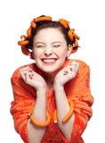 πορτοκάλι κοριτσιών στοκ εικόνες