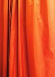 πορτοκάλι κουρτινών Στοκ φωτογραφίες με δικαίωμα ελεύθερης χρήσης