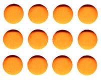 πορτοκάλι κύκλων Στοκ Εικόνες