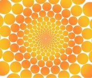 πορτοκάλι κύκλων Στοκ εικόνα με δικαίωμα ελεύθερης χρήσης