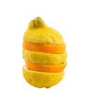 πορτοκάλι λεμονιών στοκ εικόνα με δικαίωμα ελεύθερης χρήσης