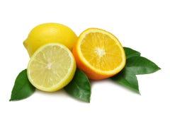 πορτοκάλι λεμονιών Στοκ Φωτογραφίες