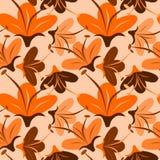πορτοκάλι λουλουδιών άνευ ραφής ελεύθερη απεικόνιση δικαιώματος