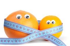 πορτοκάλι μέτρησης γκρέιπφρουτ στοκ εικόνα