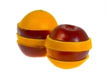 πορτοκάλι μήλων Στοκ Εικόνες