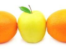 πορτοκάλι μήλων Στοκ Εικόνα