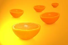 πορτοκάλι μισών καρπού Στοκ Φωτογραφίες