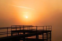 πορτοκάλι ομίχλης Στοκ εικόνες με δικαίωμα ελεύθερης χρήσης