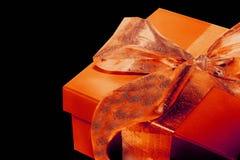 πορτοκάλι παρόν Στοκ εικόνες με δικαίωμα ελεύθερης χρήσης