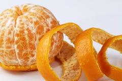 πορτοκάλι που ξεφλουδί Στοκ Εικόνα