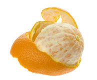 πορτοκάλι που ξεφλουδί Στοκ Φωτογραφίες