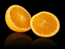 πορτοκάλι που τεμαχίζετ& στοκ εικόνα