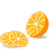 πορτοκάλι που τεμαχίζετ& ελεύθερη απεικόνιση δικαιώματος
