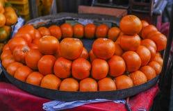 Πορτοκάλι στο κατάστημα στην Ινδία Στοκ Φωτογραφία