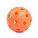 πορτοκάλι σφαιρών floorball Στοκ Φωτογραφίες