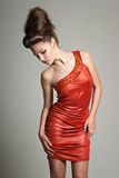 πορτοκάλι φορεμάτων Στοκ Εικόνες