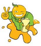 πορτοκάλι χαρακτήρα Στοκ Εικόνες