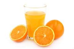 πορτοκάλι χυμού γυαλιού Στοκ Φωτογραφία