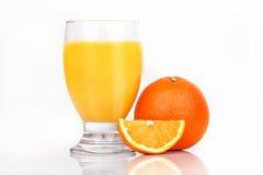 πορτοκάλι χυμού γυαλιο Στοκ φωτογραφία με δικαίωμα ελεύθερης χρήσης