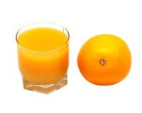 πορτοκάλι χυμού γυαλι&omicron Στοκ εικόνα με δικαίωμα ελεύθερης χρήσης