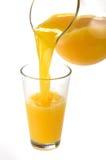 πορτοκάλι χυμού που χύνεται Στοκ Εικόνα