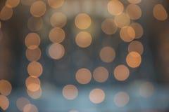 Πορτοκάλι bokeh, bokeh υπόβαθρο, bokeh φως Στοκ Φωτογραφίες