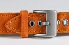πορτοκάλι watchstrap Στοκ φωτογραφία με δικαίωμα ελεύθερης χρήσης