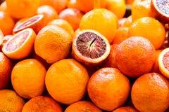 Πορτοκάλια αίματος στη στάση αγοράς Στοκ Εικόνα