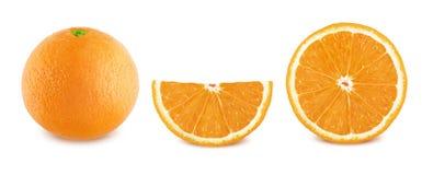 Πορτοκάλια καθορισμένα απομονωμένα στο άσπρο υπόβαθρο Στοκ φωτογραφίες με δικαίωμα ελεύθερης χρήσης