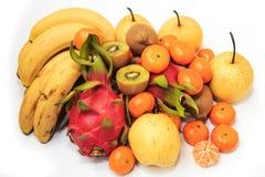 Πορτοκάλια και αχλάδια ακτινίδιων pitaya μπανανών Στοκ εικόνες με δικαίωμα ελεύθερης χρήσης