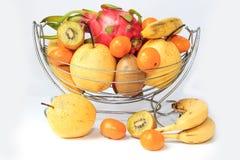 Πορτοκάλια και αχλάδια ακτινίδιων pitaya μπανανών Στοκ Εικόνα