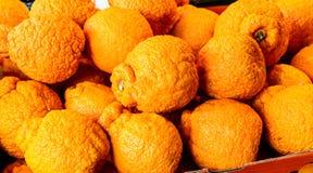 Πορτοκάλια κινεζικής γλώσσας σούμο στη στάση αγοράς Στοκ Εικόνες