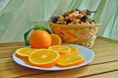 Πορτοκάλια, μπανάνες, ακτινίδιο, Στοκ Εικόνες