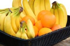 πορτοκάλια μπανανών Στοκ Εικόνες