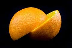 πορτοκάλια που τεμαχίζονται Στοκ Εικόνες