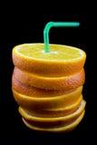 πορτοκάλια που τεμαχίζονται Στοκ Εικόνα