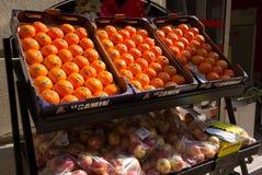 Πορτοκάλια σκηνής οδών της Νίκαιας Γαλλία Στοκ φωτογραφίες με δικαίωμα ελεύθερης χρήσης