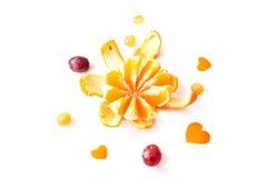 Πορτοκάλια στην άσπρη ανασκόπηση Στοκ Εικόνα