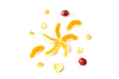 Πορτοκάλια στην άσπρη ανασκόπηση Στοκ εικόνες με δικαίωμα ελεύθερης χρήσης