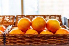 Πορτοκάλια στο ράφι υπεραγορών Στοκ φωτογραφία με δικαίωμα ελεύθερης χρήσης