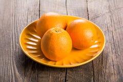 πορτοκάλια ώριμα τρία Στοκ εικόνα με δικαίωμα ελεύθερης χρήσης