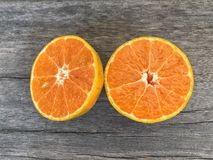 πορτοκάλι αποκοπών Στοκ Εικόνα