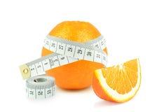 Πορτοκάλι και μετρητής στοκ φωτογραφίες